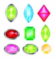 stone emerald vector image
