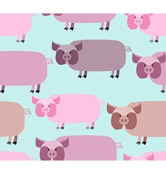 Pig seamless pattern background of animals a herd vector