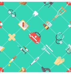 Flat seamless medicine pattern vector