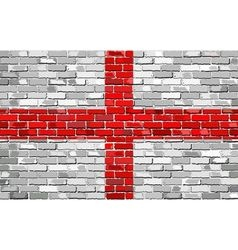 Grunge flag of england on a brick wall vector