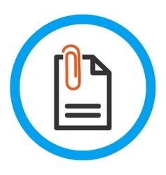 Attach document rounded icon vector