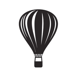 Black hot air balloon vector
