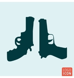Guns icon isolated vector