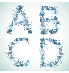 alphabet water drop abed vector image