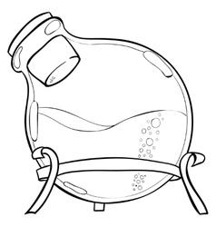 Chemistry lab jar vector image vector image