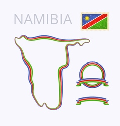 Colors of Namibia vector image vector image