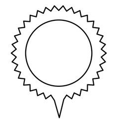 Contour cloud circle chat bubble vector