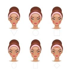 Correct application of blush vector