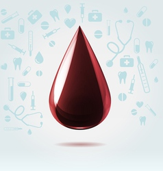 Dark blood drop vector image vector image