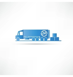 delivery of goods icon vector image