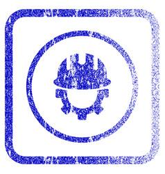 Development hardhat framed textured icon vector