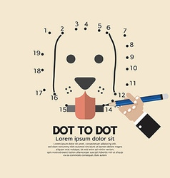 Dot to dot animal games vector
