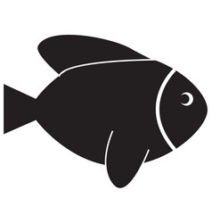 fish icon on white background fish sign vector image