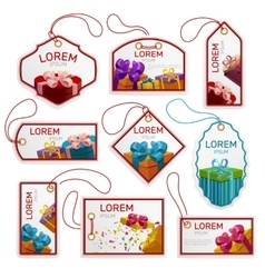 Gift package tags set vector
