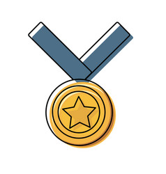 gold medal design vector image