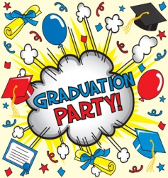 Graduation party vector
