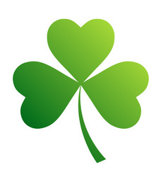Irish shamrock leaves background for happy st vector
