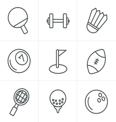 Line Icons Style Sport icons Set Design vector image vector image