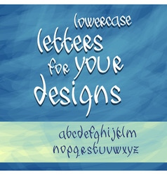 Lowercase letters vector