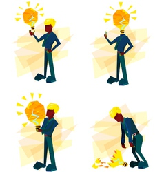man idea vector image