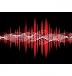 music equaliser wave red vector image