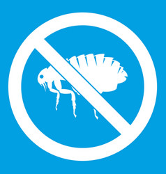 no flea sign icon white vector image vector image
