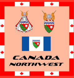 official government elements of canada - northwest vector image