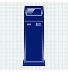 Payment kiosk web icon vector