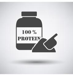Protein conteiner icon vector image