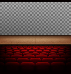 Rows of red cinema or theater seats isolated eps vector