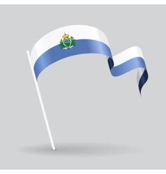 San Marino wavy flag vector image