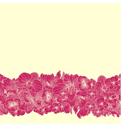 Seamless bright flower border vector