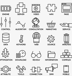 Set of seo and internet service icons - part 3 vector