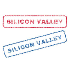 Silicon valley textile stamps vector