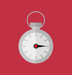 simple flat style stopwatch sport graphic vector image
