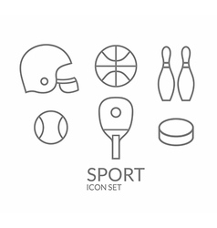 Sport Icon set Outline vector image vector image