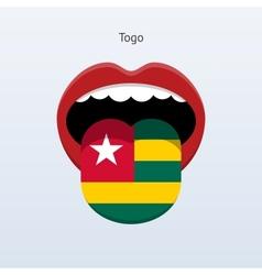 Togo language abstract human tongue vector