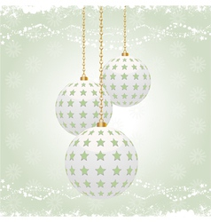 vintage christmas baubles vector image