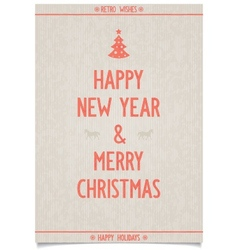 Vintage poster on old paper for new year vector