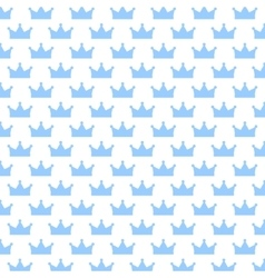 with background blue crowns Seamless texture vector image vector image