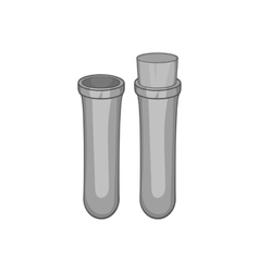Vial for blood collection icon monochrome style vector