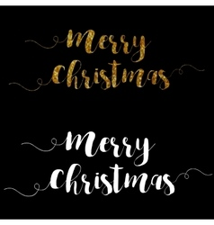 Merry christmas lettering design set vector