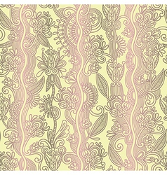 Hand draw ornate floral seamless wallpaper vector