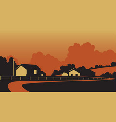 country farmstead vector image