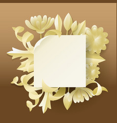 Floral greeting card invitation vector