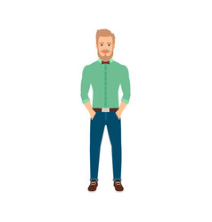 Young hipster man in casual clothes vector