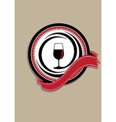 Icon for quality wine vector
