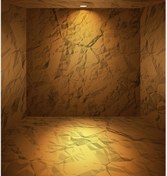 Dug room with earthen walls vector