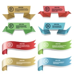 Modern ribbons and banners vector