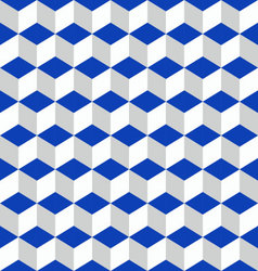 Geometric seamless pattern blue vector